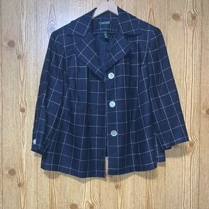 L. Ralph Lauren | Windowpane Plaid Jacket